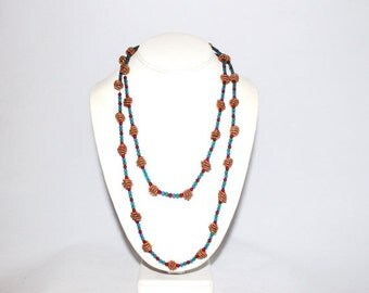 HUGE DISCOUNT 35% OFF 1970s Anne Klein Bohemian Beaded Gypsy Necklace