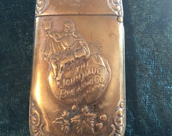 Antique Brewery advertising match safe