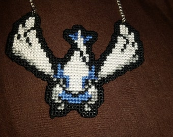 Lugia Cross Stitched Necklace