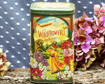 Vintage  Wildflower Seed Mix Collectible Tin/Container