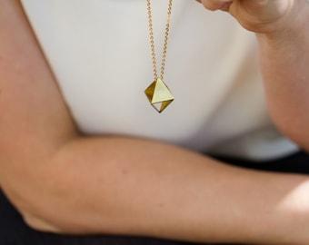 Brass Prism Necklace