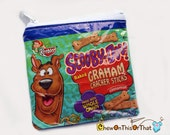Keebler Scooby Doo Cinnamon Graham Cracker Sticks Snack Wrapper Cookies Upcycled Change Purse Recycled Cookie Coin Pouch Wallet