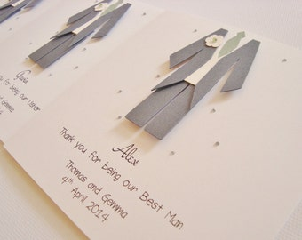Personalised Usher/Best Man/Page Boy Wedding Thank You Card
