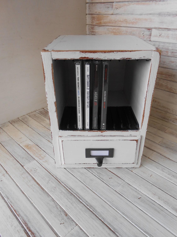 Wood Cd Storage Cd Organizer 10 Cd Storage Box Music