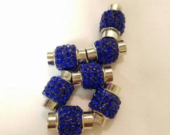 Magnetic Clasp With Rhinestone, Pave Stones in Polymer Clay (1PC)