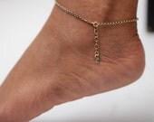 Dainty Brass Anklet -Ankl...