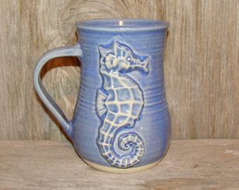 Saphire Blue Sea Horse Mug