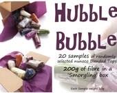 Sample tops - Blended Roving - 20 samples - 200g/7oz fibre - HUBBLE BUBBLE