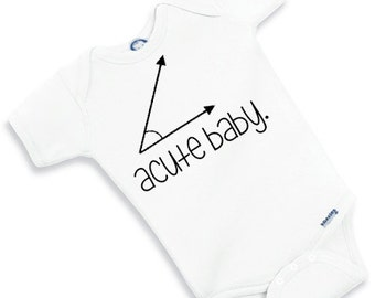 ACUTE BABY onesie gerber - gender neutral gift - cute funny adorable bodysuit baby shower boy girl math geek nerdy nerd