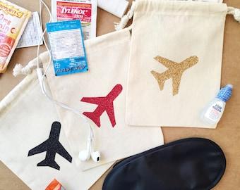 Flight Survival Kit Bag-Destination Wedding Kit-Destination Wedding Favor-Destination Hangover kit-Bachelorette Favor-Destination Wedding