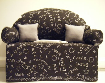 School Chalkboard  Tissue Box Couch Cover