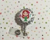 ID Badge clip - Mermaids have more fun