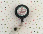 ID Badge clip - Nursing cutie