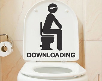 Bathroom Funny funny toilet decal | etsy