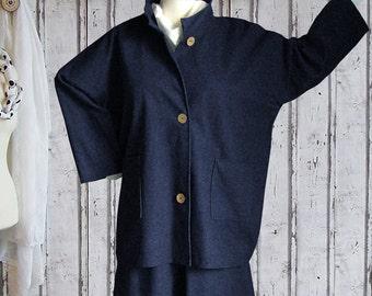 Plus sizes - US 18 - 34, UK 20 - 36 Layered-look fantastic plus size jacket, denim, dark blue