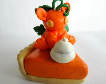 Polymer Clay Pumpkin Pie Dragon