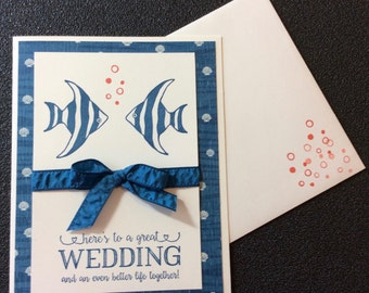 Wedding, Love, Couples, Fish, Ocean, Coastal, Friend, Shells, Handmade, stampin up