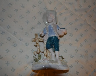 ON SALE!   Vintage China  18th Century Boy Sculpture