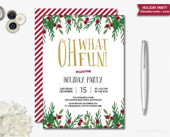 holiday party invite  etsy, Party invitations