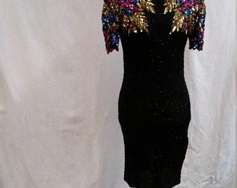 sequined eighties mini dress