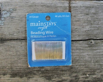 Beading wire 34 gauge silver tone Mainstays