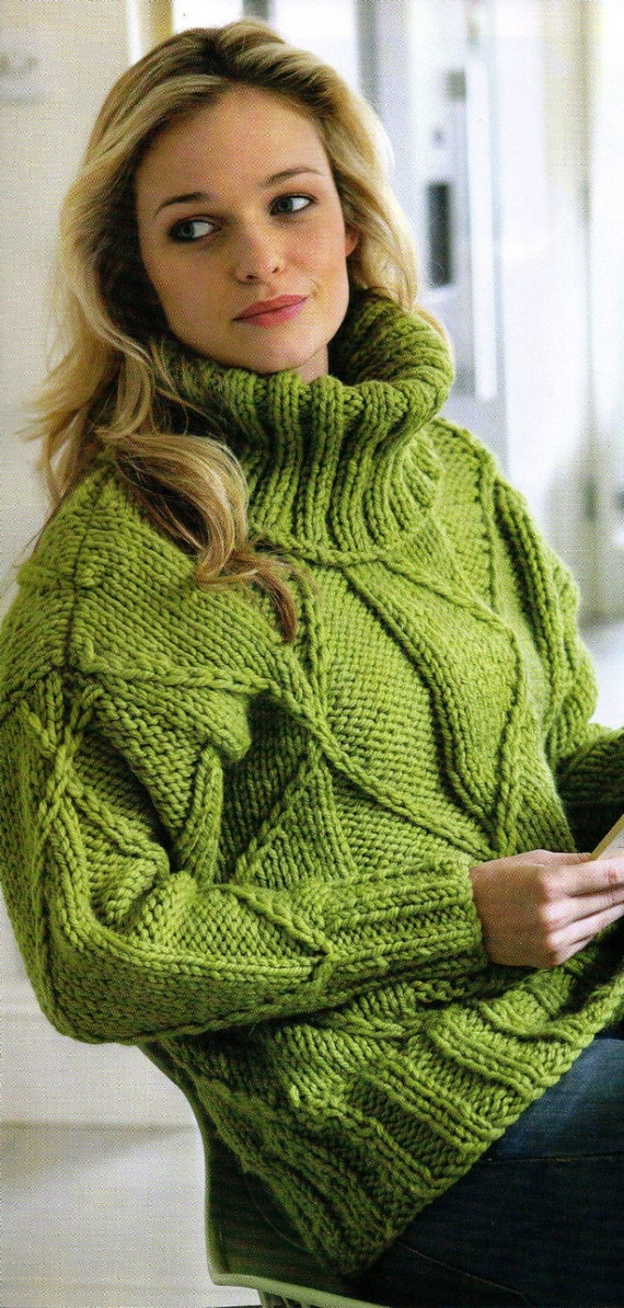 Womens Knitting Pattern Womens Sweater Jumper Womans Polo