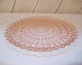 Pink Depression Glass platter, Serving Plate, Jeannette Glass Plate