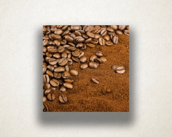 Coffee Bean Canvas Art, Coffee Bean Wall Art, Coffee Canvas Print, Artistic Wall Art, Photograph, Canvas Print, Home Art, Wall Art Canvas