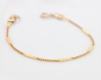 Gold Bracelet, Delicate gold bracelet, stacking bracelets