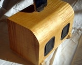 Blue Tooth Speaker in Curly Maple,, iPhone 4 Charger,, Deco Modern inspired,, new