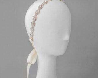 Bridal Rose Gold Headband -- Style BCA0631 -- Made to Order