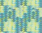 20% off! 1canoe2 Turquoise Geometric Flying Geese for Moda Fabric Tucker Prairie Moda Fabric - Aqua Triangle - 1canoe2 Fabric Blue Material