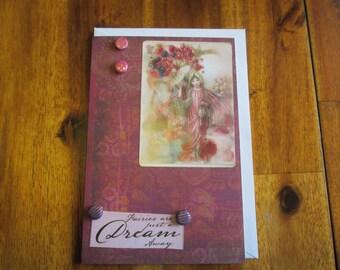 Fairy Greeting Card, Embellished Greeting Card, Blank Greeting Card
