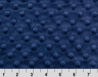 Minky Dot Fabric, Cuddle Dimple in Navy Blue by Shannon Fabrics