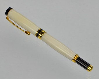 Antler Rollerball Pen White Tail Deer Fountain Pen Hunter Christmas Gift #254