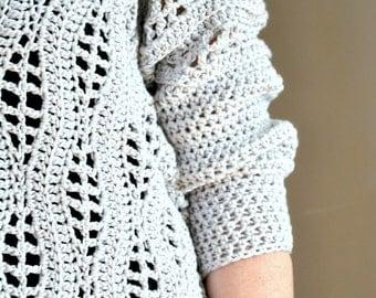 Salena Sweater Crochet Pattern pdf
