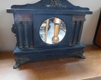 Antique Clock Case with Mirror