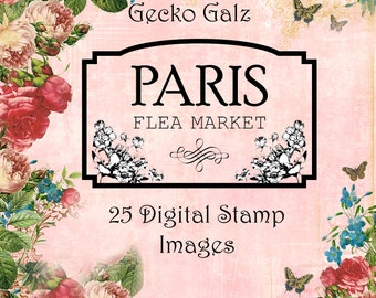 Paris Flea Market Digital Stamp Set