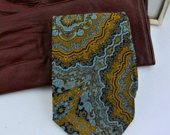 Men's neck tie - Vintage 1970s Australian fashion- Austico