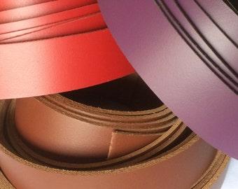Leather Belt Blank Strap 32mm x 127cm -  Purple | Red | Tan