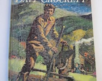 Davy Crockett Book-Vintage Walt Disney Children's Book