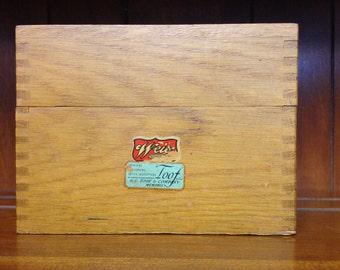 Old Wooden Recipe/File Box