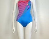 ON SALE 1980s bathing suit: one piece bathing suit / avant garde / 80s one piece / vintage swimsuit / 80s bathing suit / 80s swim wear /
