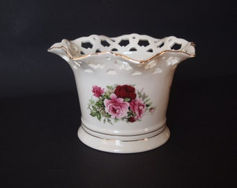 Formalities by Baum Bros Cut-out Bowl Victorian Rose Collection