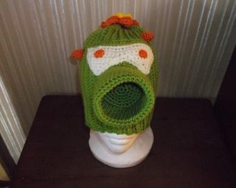 Plants Vs Zombies inspired Cactus crochet hat child size