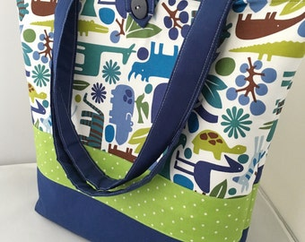 Ready To Ship!  Large Modern Pool 2D Zoo  Diaper Bag/Tote...Shower Chic