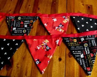 Mickey Banner, Birthday Banner, Nursery Banner