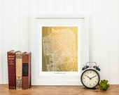San Francisco Print, San Francisco Map, San Francisco Gold Foil Print, Gold Wall Art, Gold Foil Map, The City by the Bay in Gold, Map Print