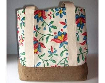 Vintage Curtain Tote Bag