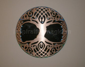EMF Blocker Copper Cold Cast Celtic Tree of Life Wall Plate.